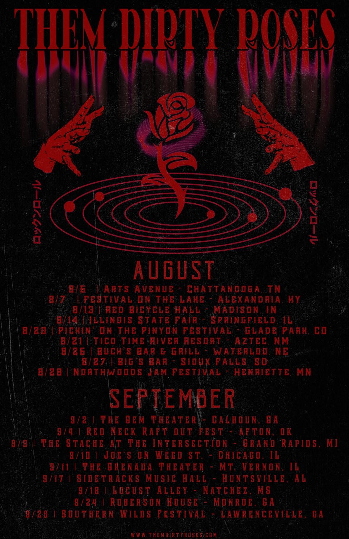 TDR August September Tour Poster RED Full
