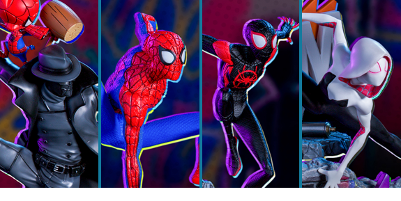 INTO THE SPIDER-VERSE BATTLE DIORAMA SERIES 1/10 ART SCALE STATUES