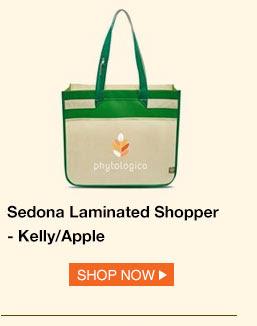 Sedona Laminated Shopper - Kelly/Apple