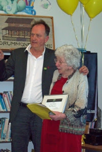 David Brydges with Cobalt's Poet Laureate Ann Margetson May 11, 2012