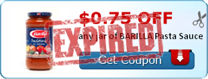 $0.75 off any jar of BARILLA Pasta Sauce