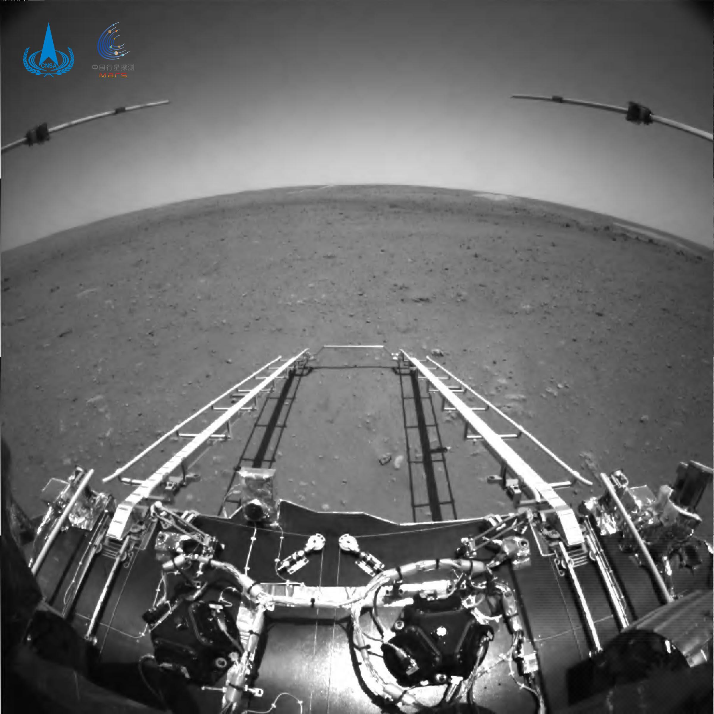 An image taken on Mars by China's Tianwen-1 lander