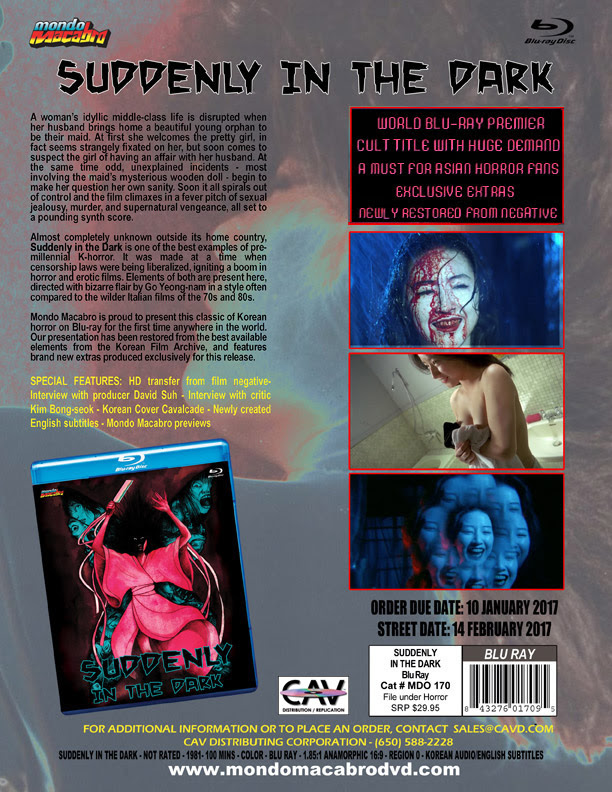 Suddenly In The Dark On Blu-ray For February 2017 From Mondo