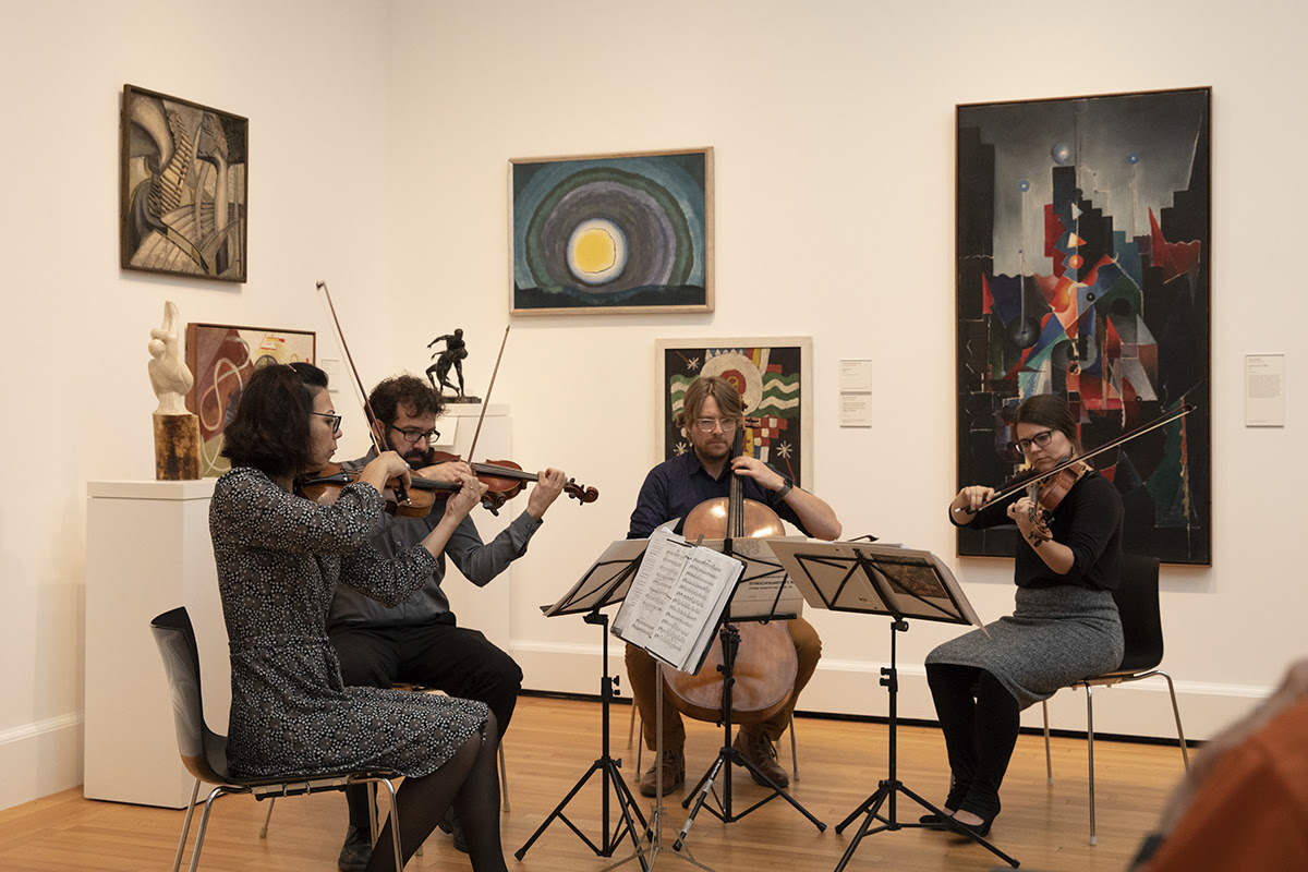 Haven String Quartet playing music join the galleries