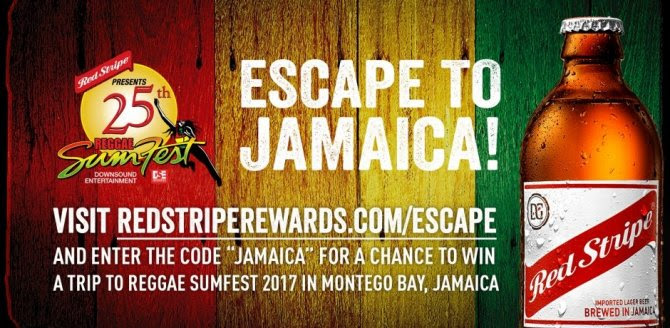 Win a free trip to Jamaica courtesy of Red Stripe