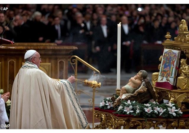Homilía del Papa en el final del año 2014, Te Deum de acción de gracias, Basílica Vaticana, 31 de diciembre de 2014