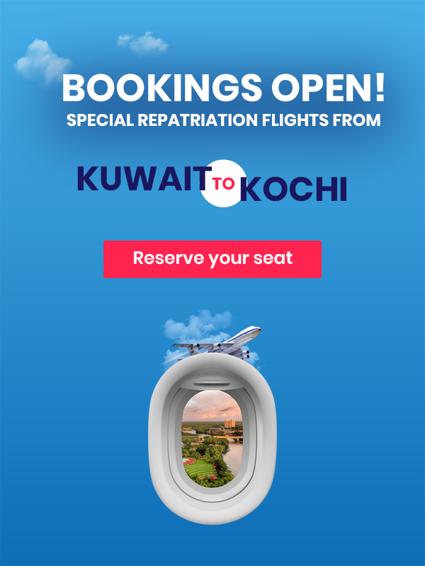 Let's go home, bookings open for repatriation flights to Kochi