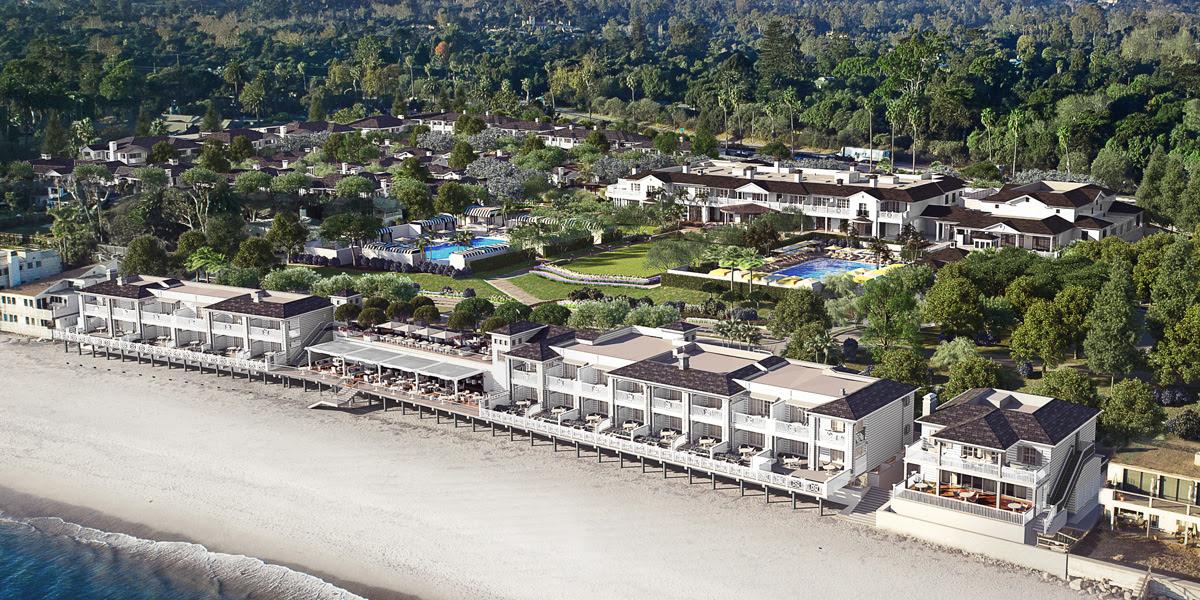 Rosewood Miramar Beach Aerial Shot