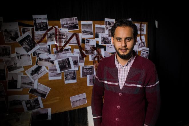 Le documentariste Youssef Nateel se sent assigné à              domicile © Thomas Cantaloube