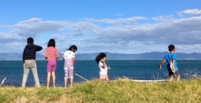 The kids in Kaiaua