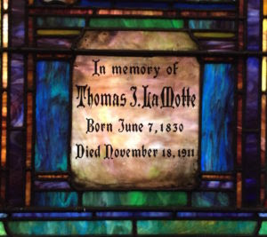 A memorial church window to my great, great grandfather in Columbia, SC