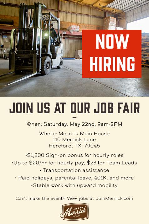 Merrick Pet Care Job Fair @ Hereford | Texas | United States
