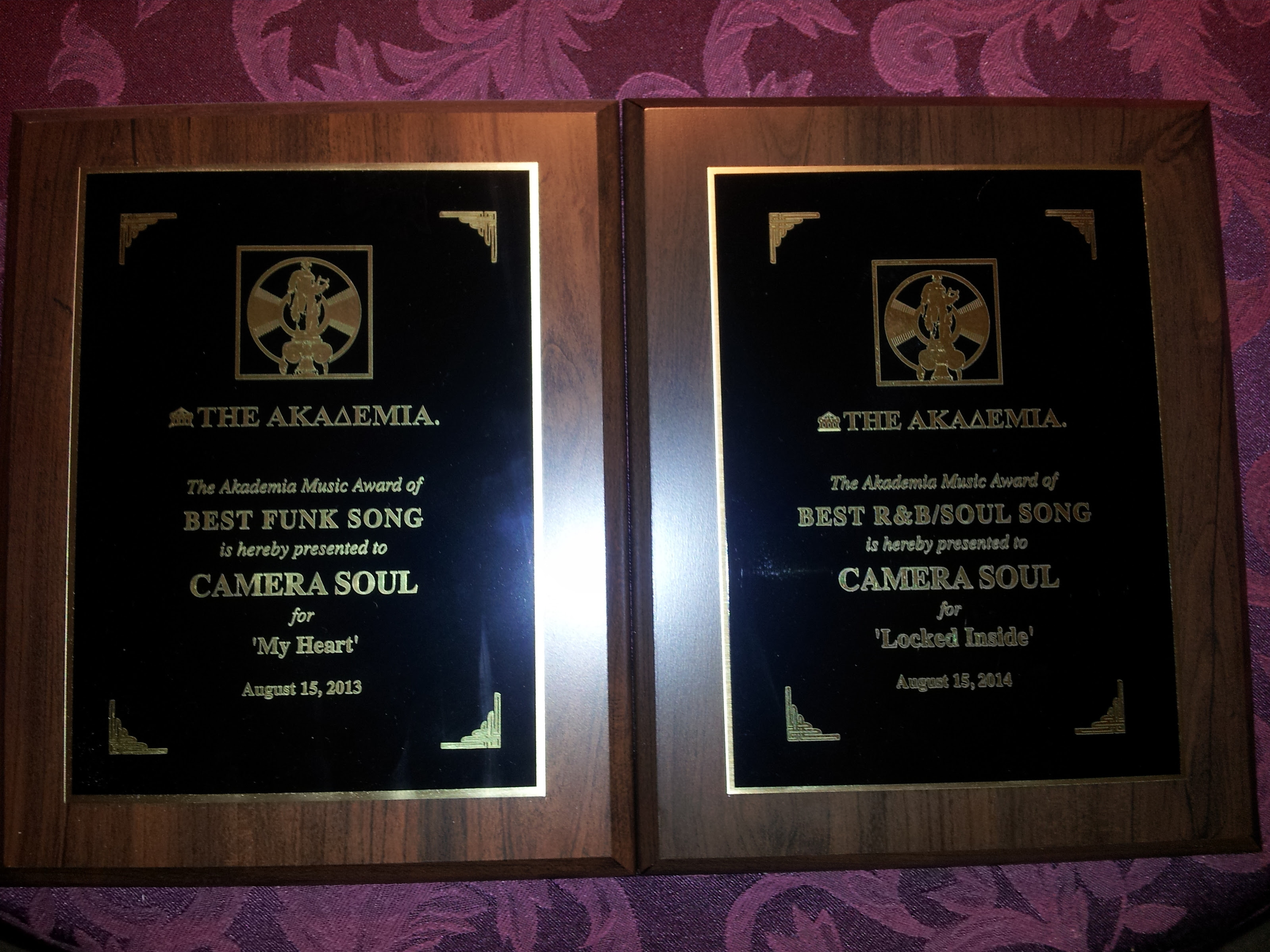 "Camera Soul - Two-time winners of The Akademia Music Awards for ""Best"" in Funk and R&B/Soul!"