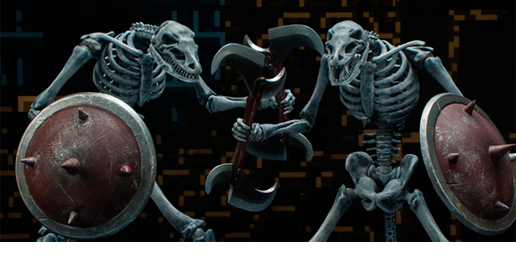 Golden Axe III Dead Frame 1/12 Scale Figure Two-Pack