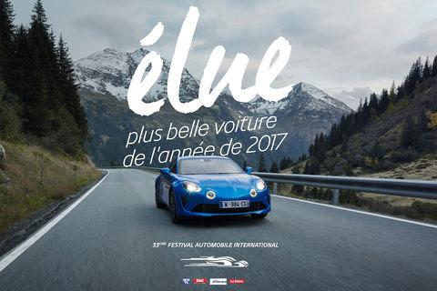 L'Alpine A110 élue plus belle voiture de l'année 2017