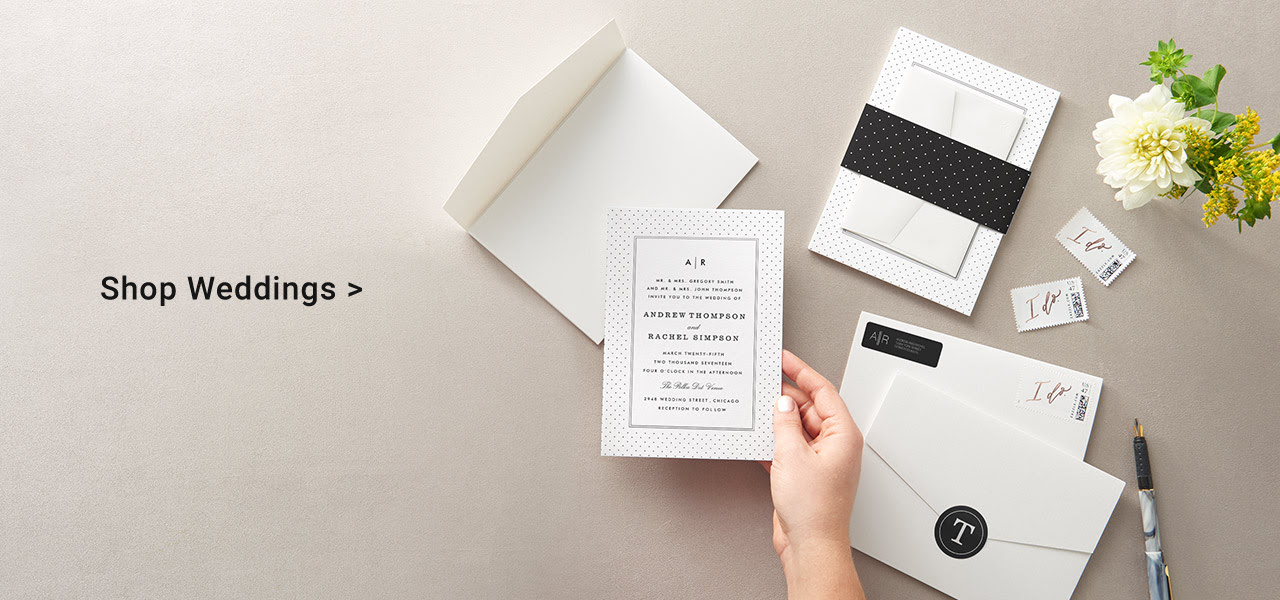 Shop Save The Dates, Wedding Invites And Thank You Cards In Our Wedding Hub!