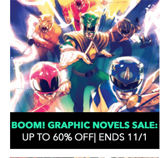 BOOM! Graphic Novels Sale: up to 60% off! Sale ends 10/22.