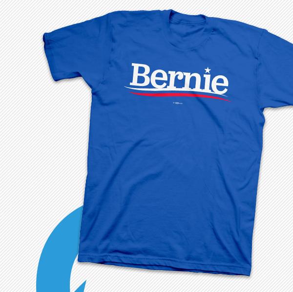 Blue Bernie t-shirt,