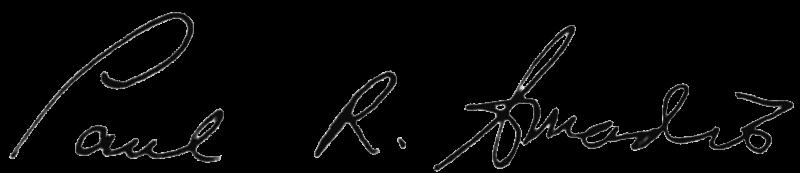 Pauls signature transparent