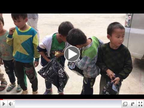 Some kids were barefooted, so they were excited about getting new shoes.