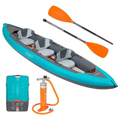 ITIWIT 3 person High-Pressure Inflatable Kayak Bundle