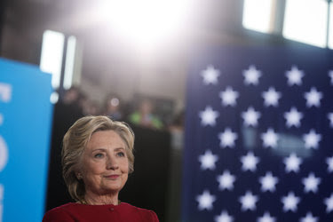 Hillary Clinton attended a campaign event at a community center in Haverford, Pa., on Tuesday.
