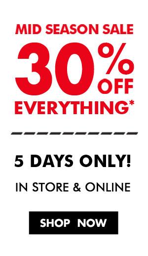 Mid season sale 30% off everything + free shipping Australia wide at Bonds.com.au