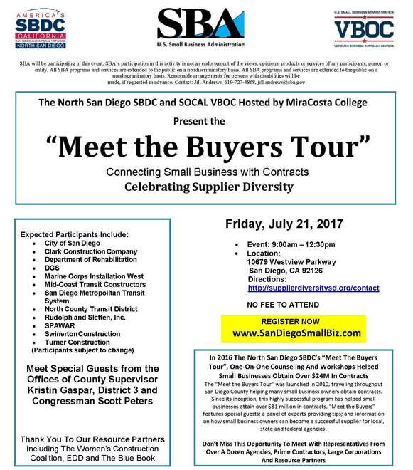 Image: July Meet the Buyers Event Flyer