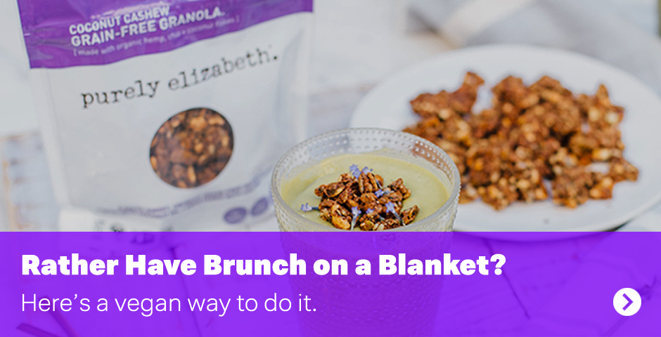 Rather have brunch on a blanket? Here's a vegan way to do it.