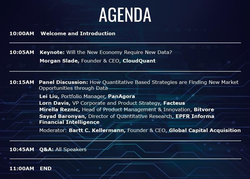 Data Anomalies Agenda