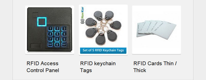 RFID Access Control Panel<br /> RFID keychain Tags<br /> RFID Cards Thin / Thick