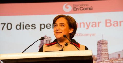 Ada Colau, en la presentación de Barcelona en Comú.