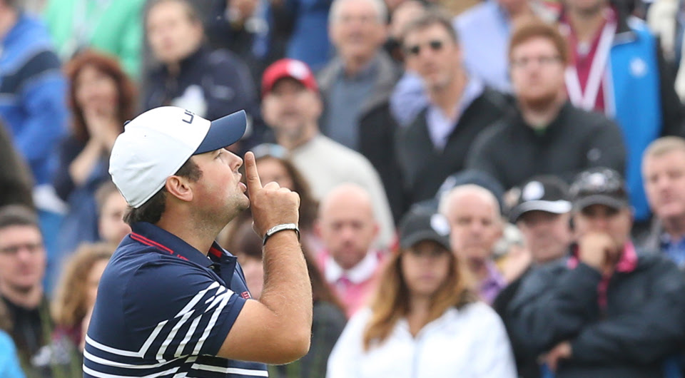 Image result for ryder cup patrick reed shhh