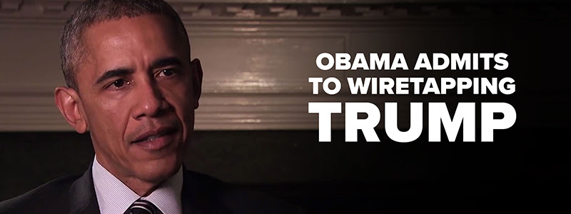 Obama Admits to Wiretapping Trump