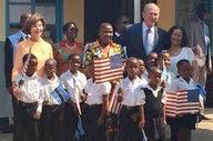 Former President Bush visits Botswana