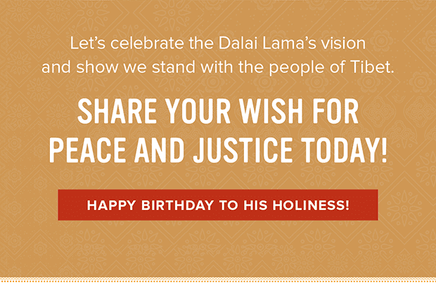 Happy Birthday to His Holiness!