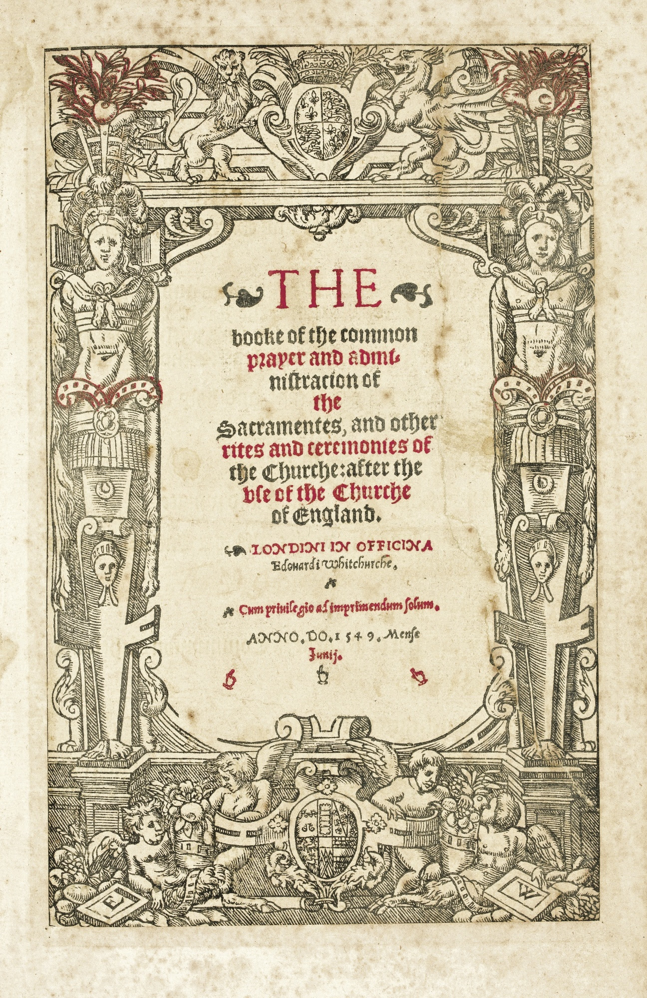 The front page of the 1549 prayer book