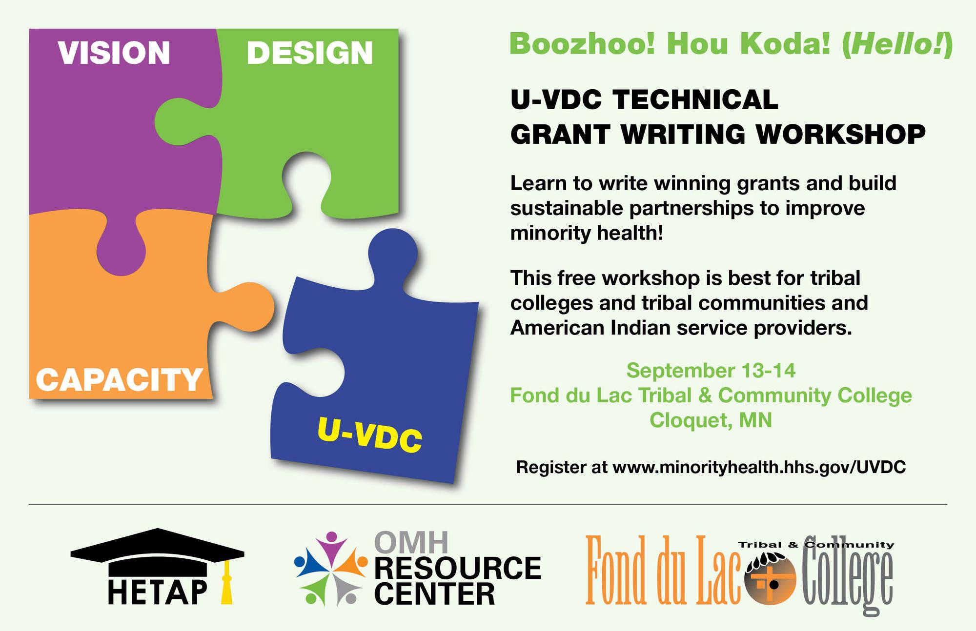 Fond du Lac UVDC Grant Writing Workshop