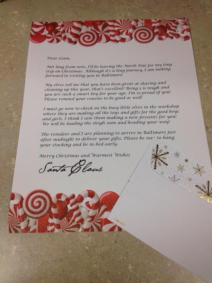 Sample Santa Letter