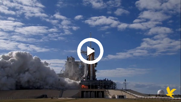 Video Link: Space Shuttle about to launch with Play Button