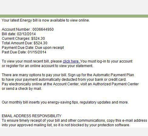 Utility bill scam