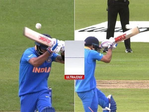 Virat Kohli walked away despite being not out.