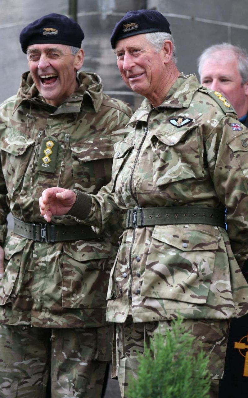 The Prince of Wales with the Duke of Westminster in Ayr