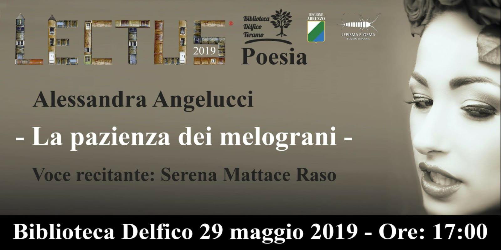"""Teramo. Alla Delfico """"La pazienza dei melograni"""" Terzo libro di poesie di Allesandra Angelucci"""