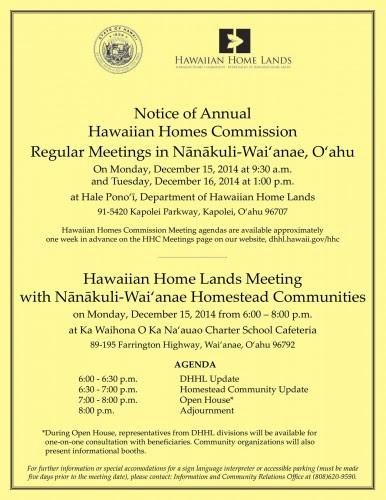 NanakuliWaianae Mtg Flyer Dec 2014