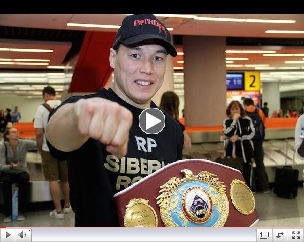 RUSLAN PROVODNIKOV Arriving at JFK Airport for the Chris Algieri fight + Interview