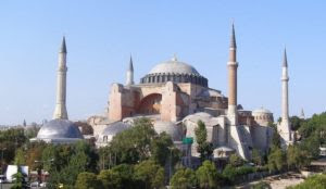 How did the Hagia Sophia become a mosque?