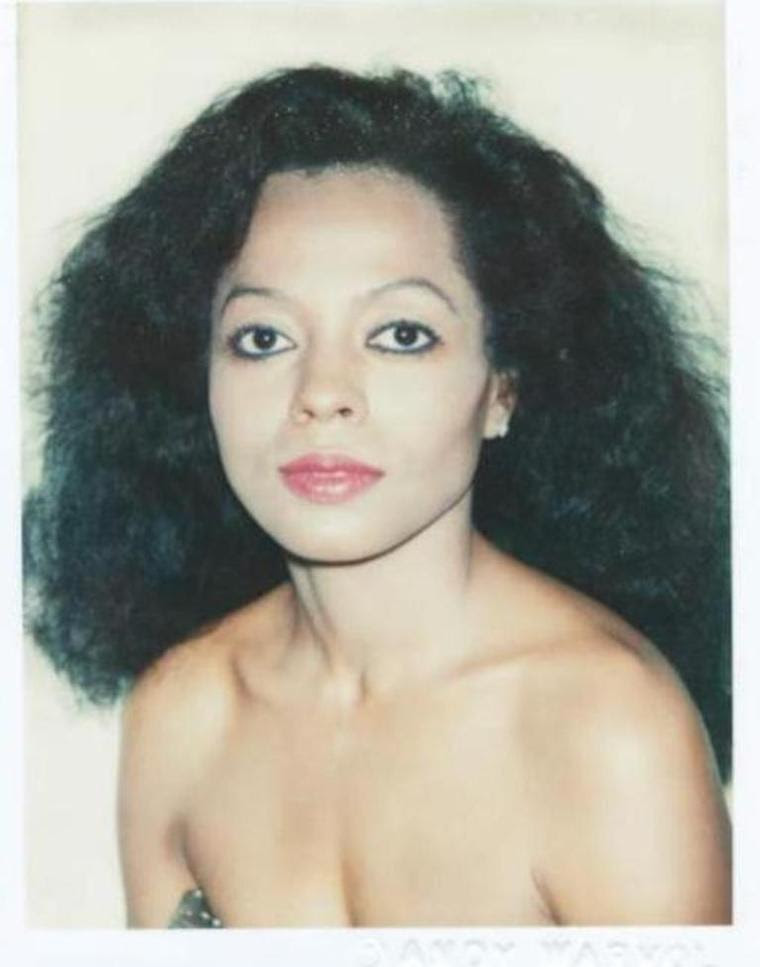 Andy Warhol - Polaroid Fotografia de Diana Ross (The Supremes), 1981