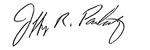 Jeff Pankratz signature