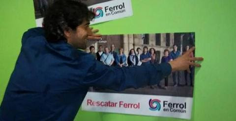 Jorge Suárez, candidato de Ferrol en Común, pertenece a Esquerda Unida.